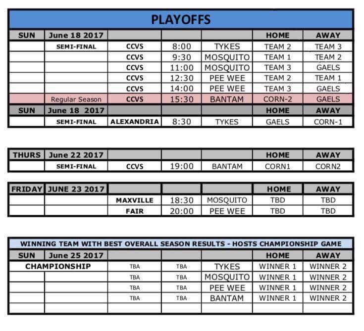 playoff schedule