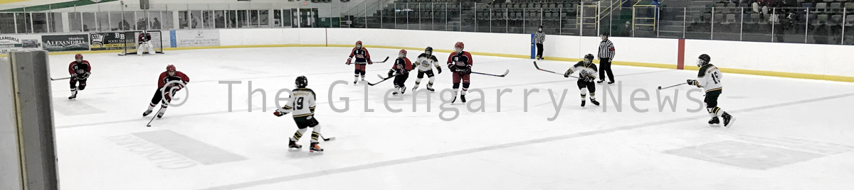 peewee hockey action