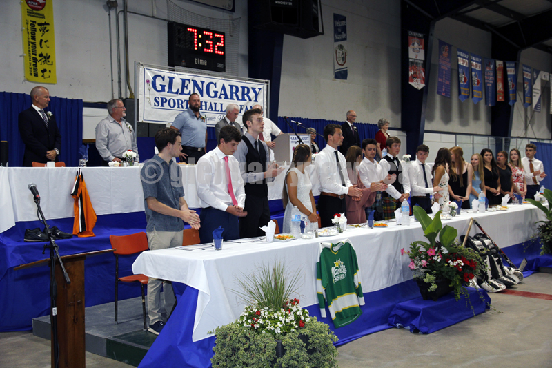 Sports Hall of Fame head tables