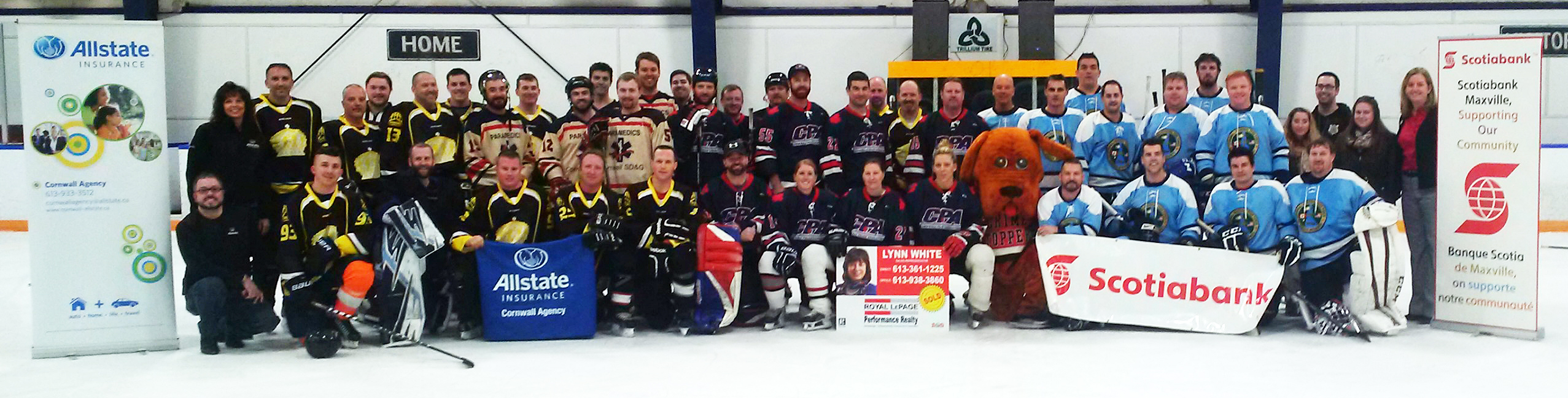 Crimestoppers hockey participants