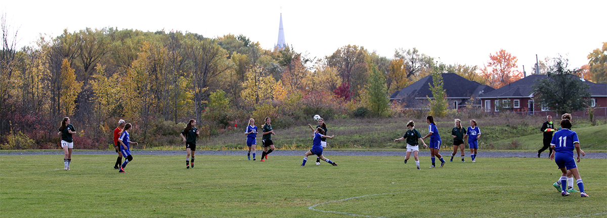 soccer action from PRSSAA final at Le Relais